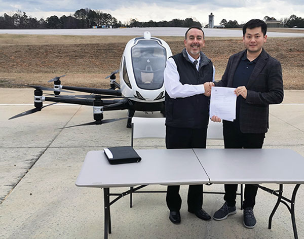Ehang conducts 1st trial flight of its aerial car model in USA