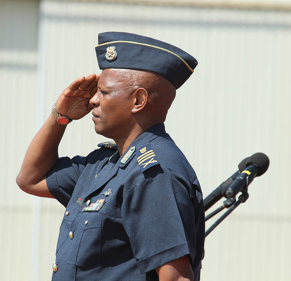 Lt Gen. Msimang takes the salute