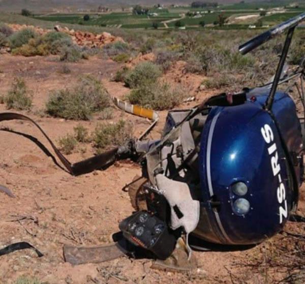 Robinson R22 crash site
