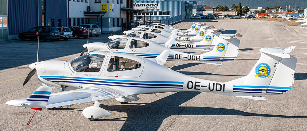 Diamond DA40NG training aircraft