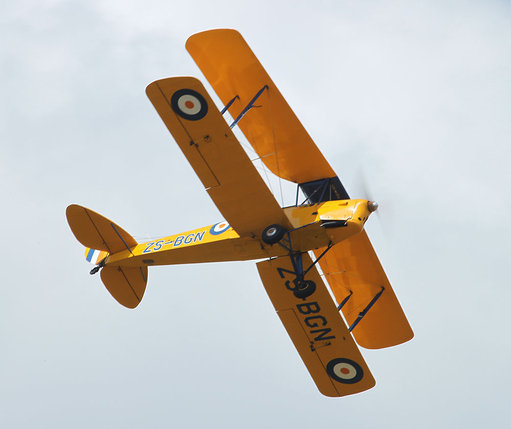 First aircraft DH Tiger Moth