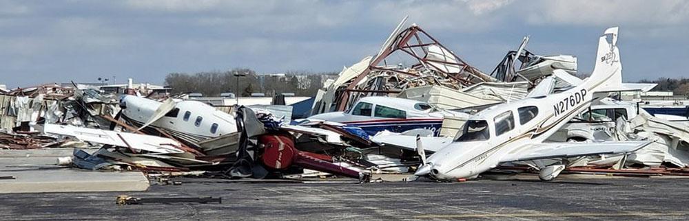 Nashville Airport tornado damage