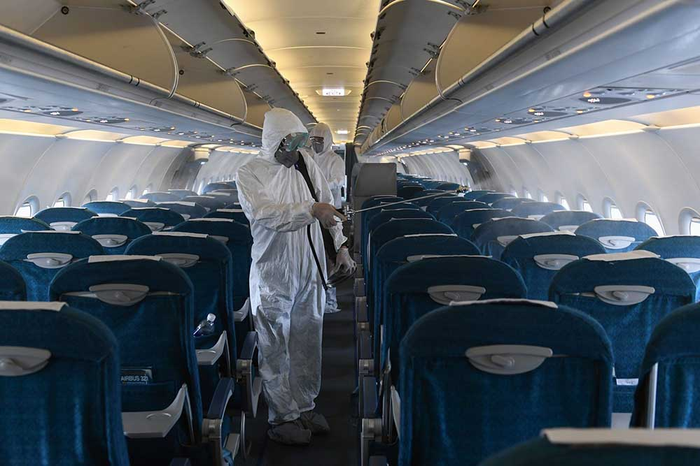 Disinfecting airliners