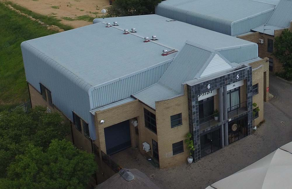 African Pilot building aerial view