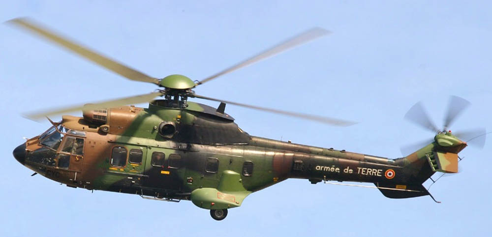Airbus AS532 Cougar helicopter