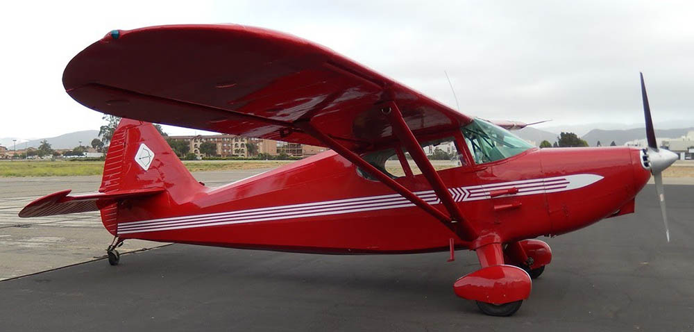 Stinson 108 not the accident aircraft