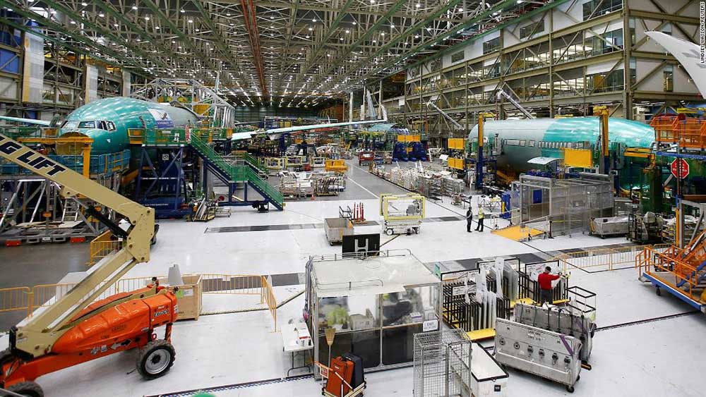 Boeing aircraft production