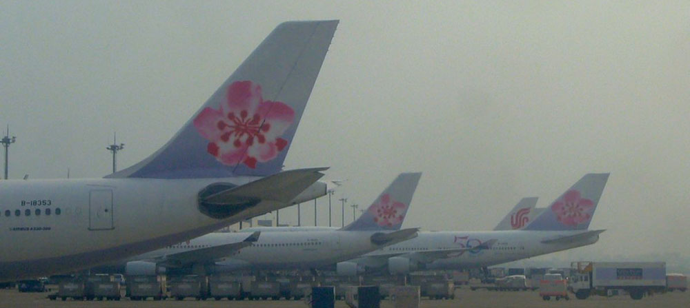 China Airlines planes parked