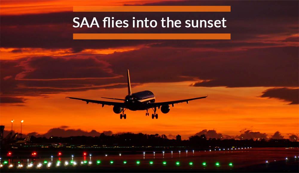SAA flies into the sunset