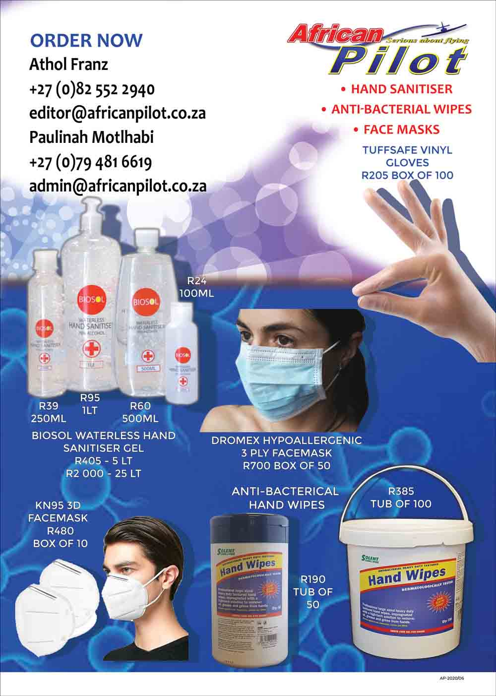 African Pilot COVID-19 products
