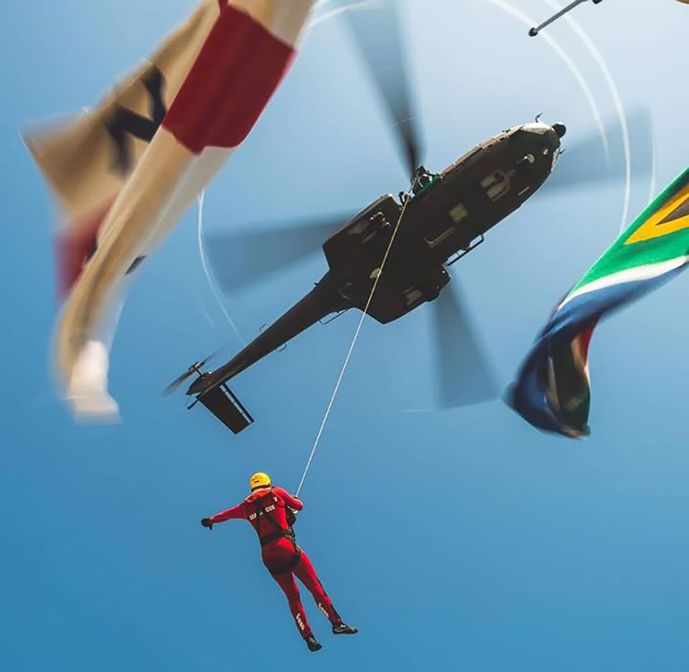 SAAF Oryx helicopter rescue