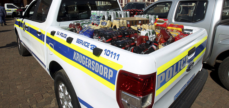Booze in a Police vehicle