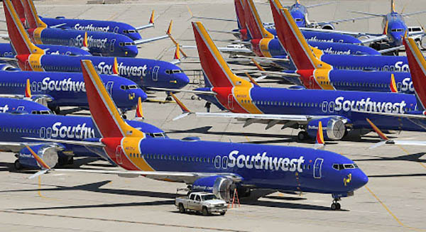 How Southwest Airlines manages its grounded planes