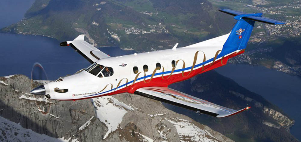 Pilatus assists with fighting