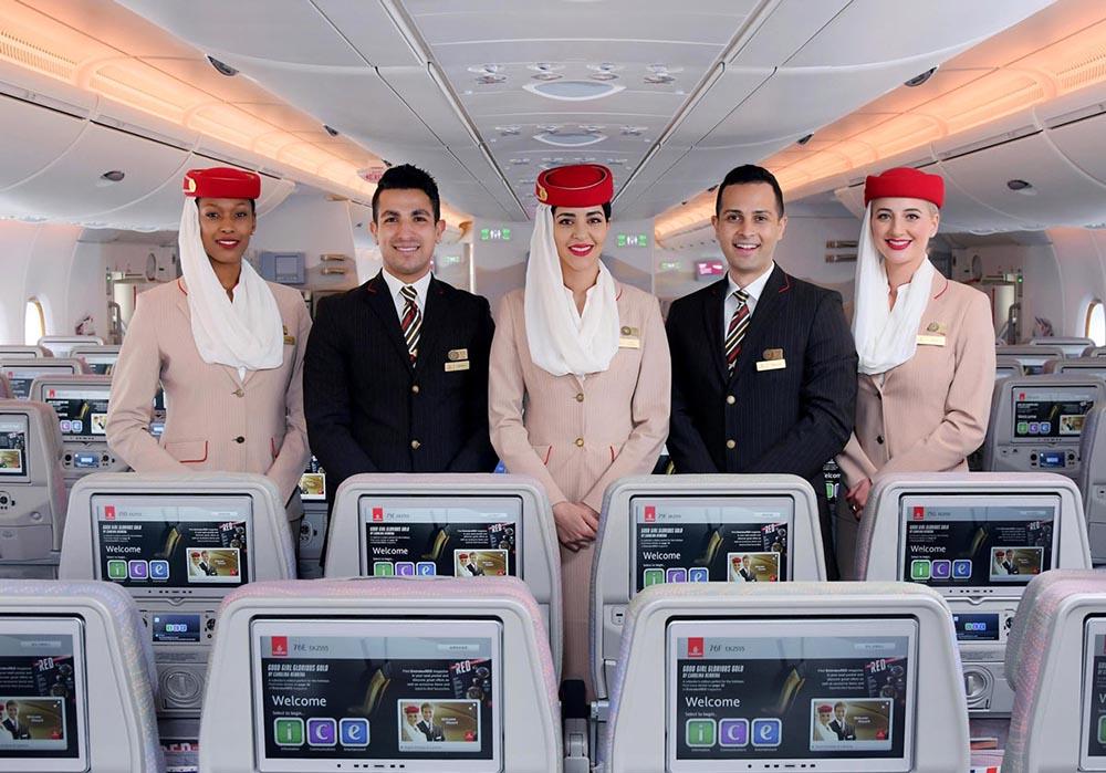 Emirates Airlines crew