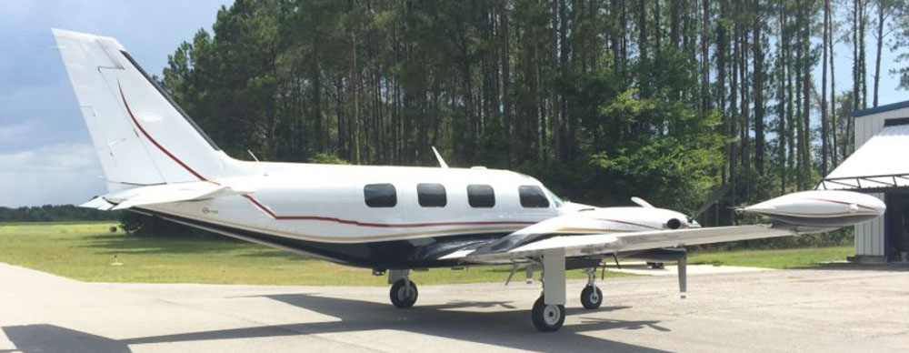Piper PA-31T the accident plane