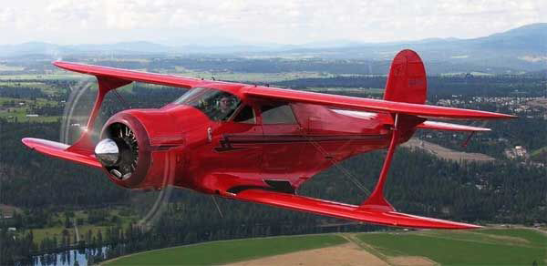 Beechcraft Staggerwing - not the accident plane