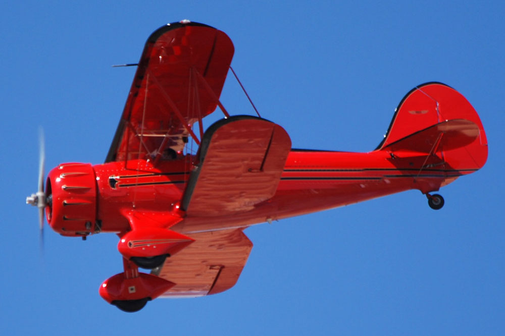 WACO YMF-F5C not the accident aircraft