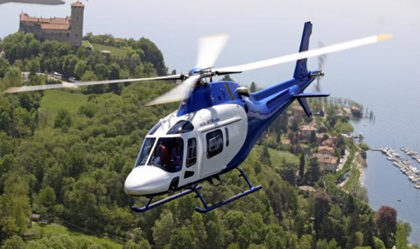 Westland AW119 helicopter - not the accident helicopter