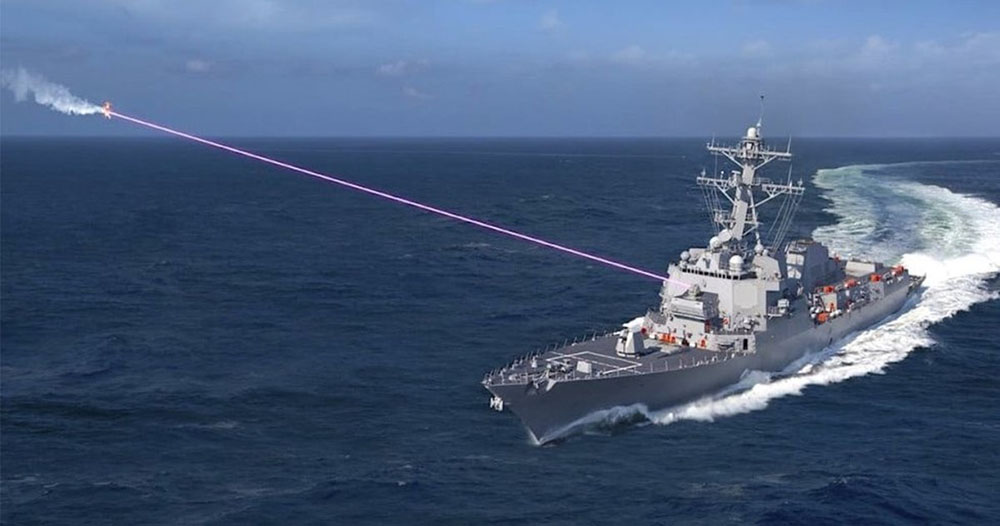 US Navy shoots down drone