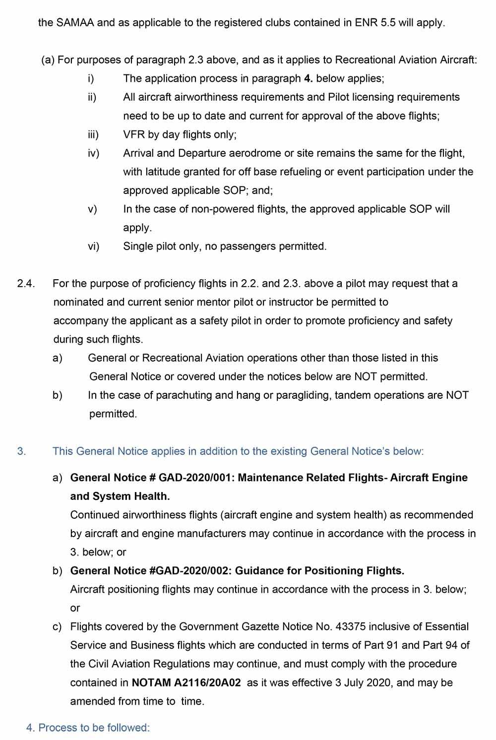 General Notice GAD2020_003-COVID-19 GA-RA Proficiency 3