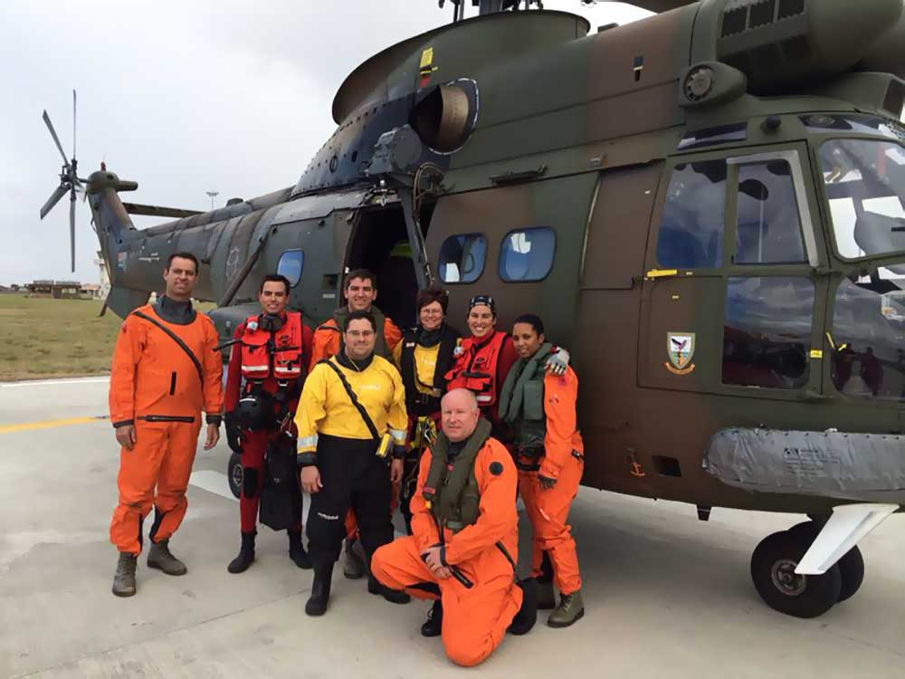 SAAF Oryx helicopter rescue team