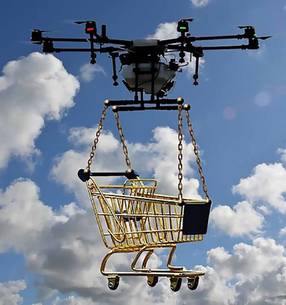 Grocery delivery drone
