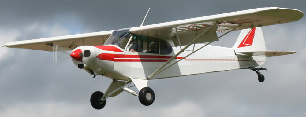 Piper PA-18 not the accident aircraft