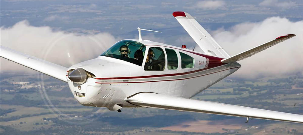 Beechcraft V35 not the accident aircraft