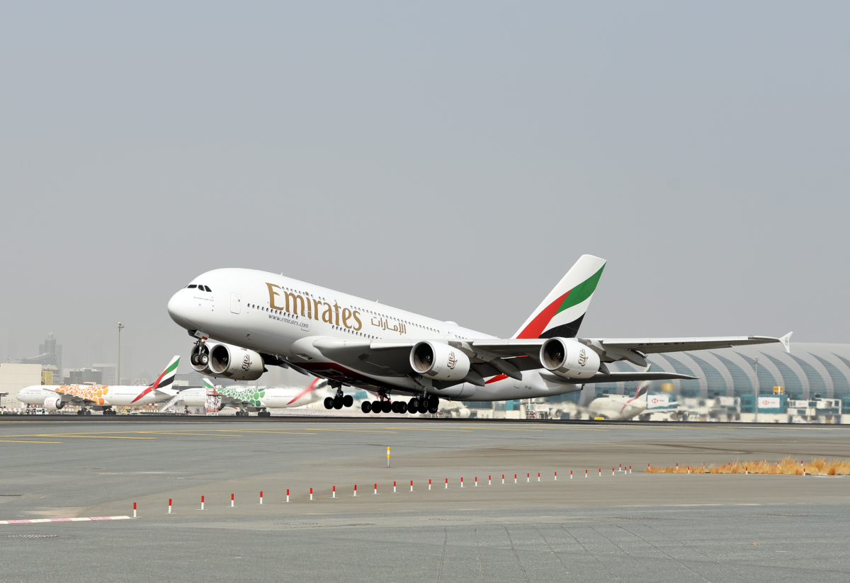 Emirates first commercial A380 flight