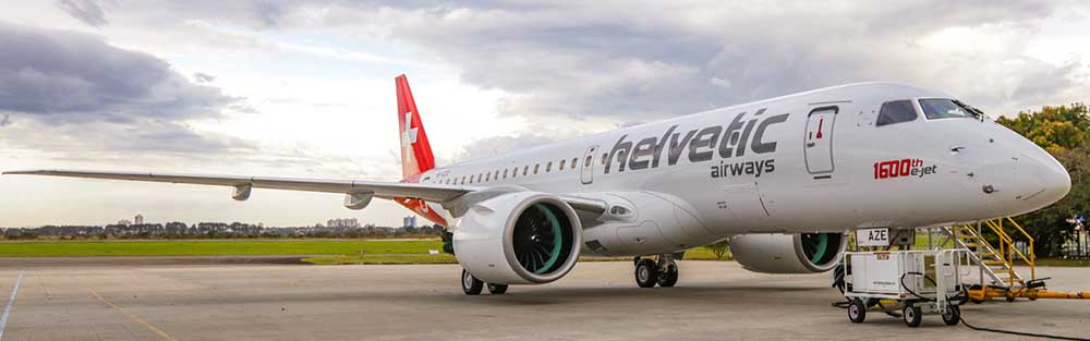 Helvetic Airways Embraer 1 600th E-Jet