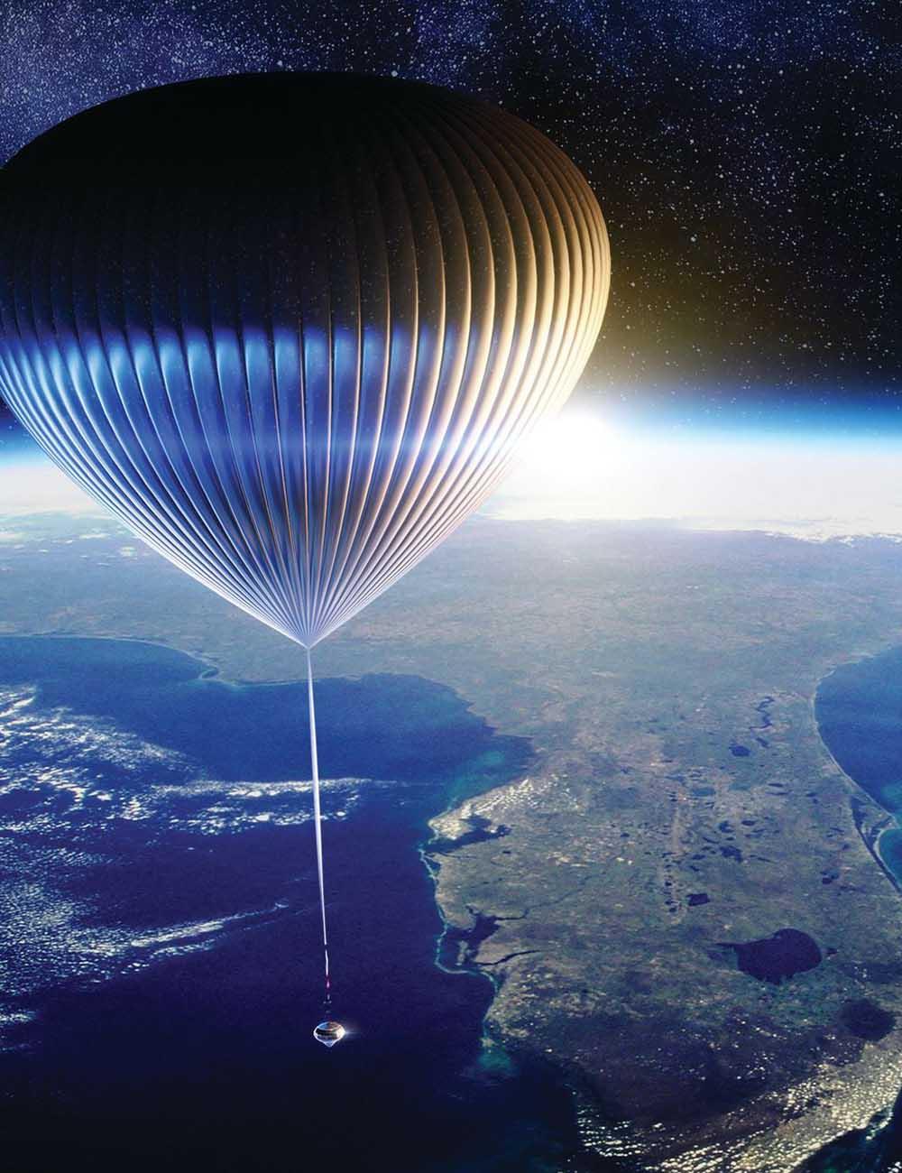 High-altitude balloon flight