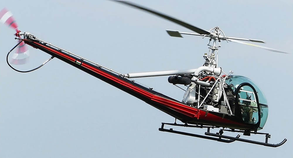Hiller UH 12D not the accident helicopter