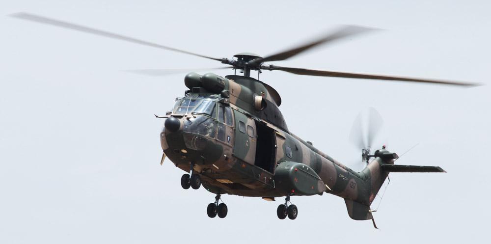 SAAF Oryx helicopter