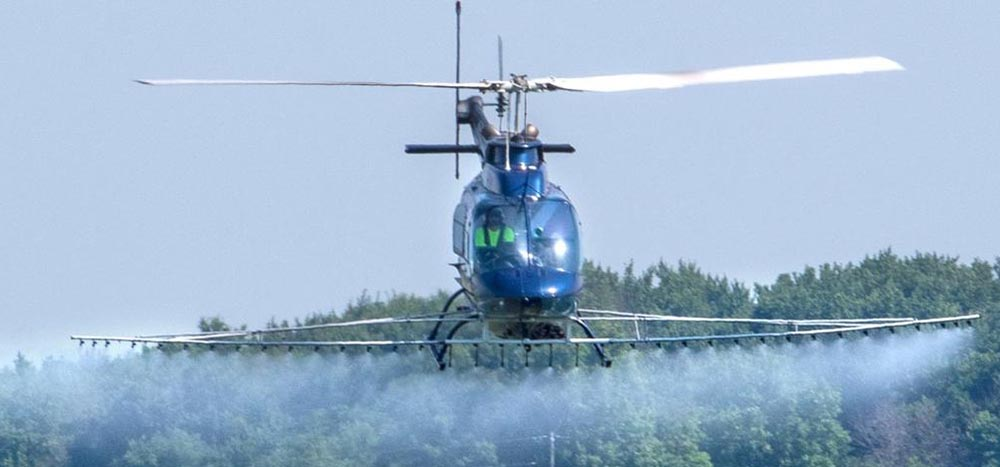 Agricultural helicopter not the accident aircraft
