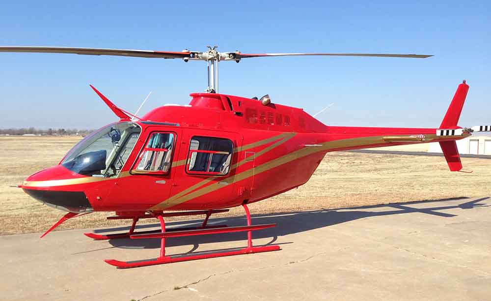 Bell 206B Jet Ranger not the accident helicopter